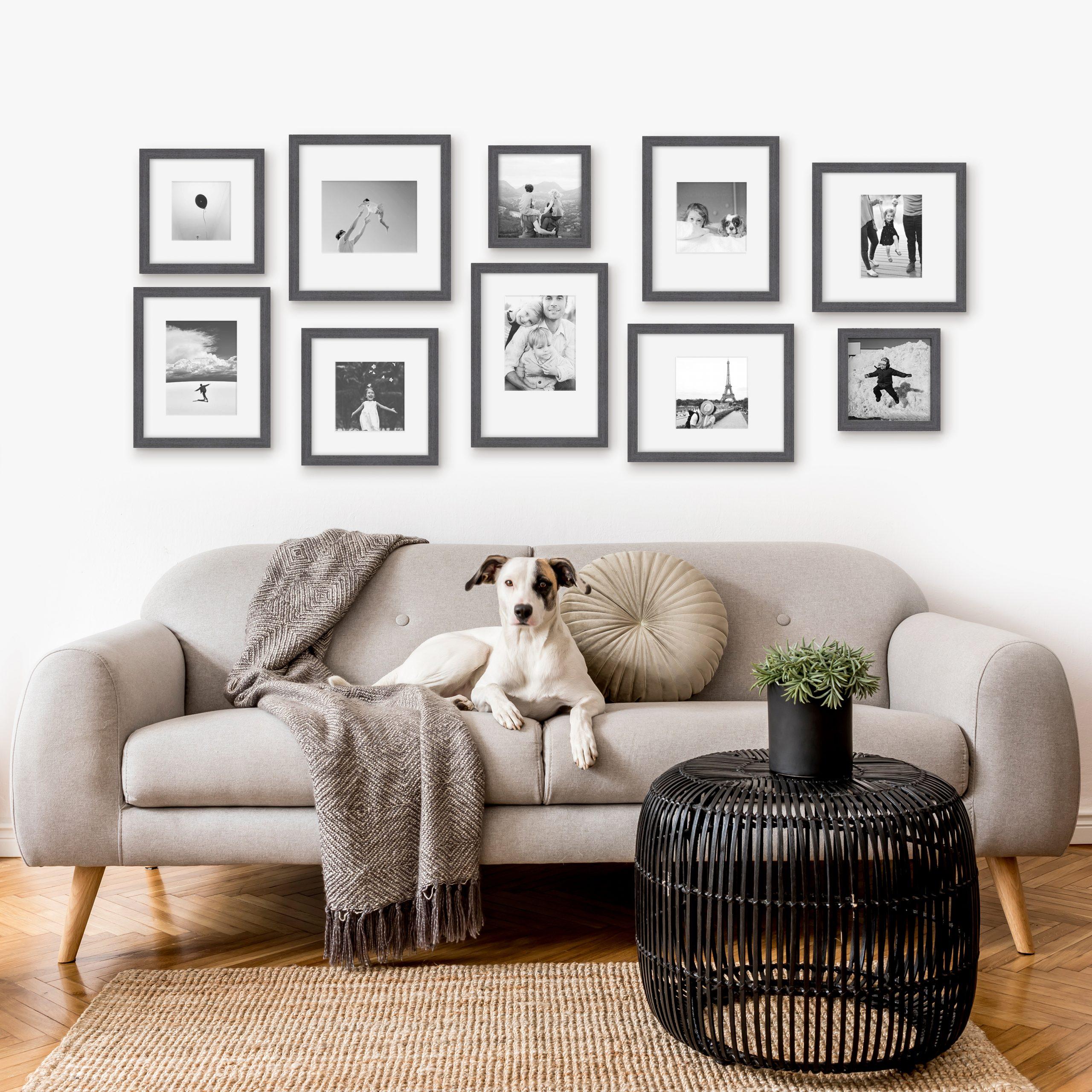 Big Mismatch Gallery wall framed photos wall art framefrox NZ prints frames