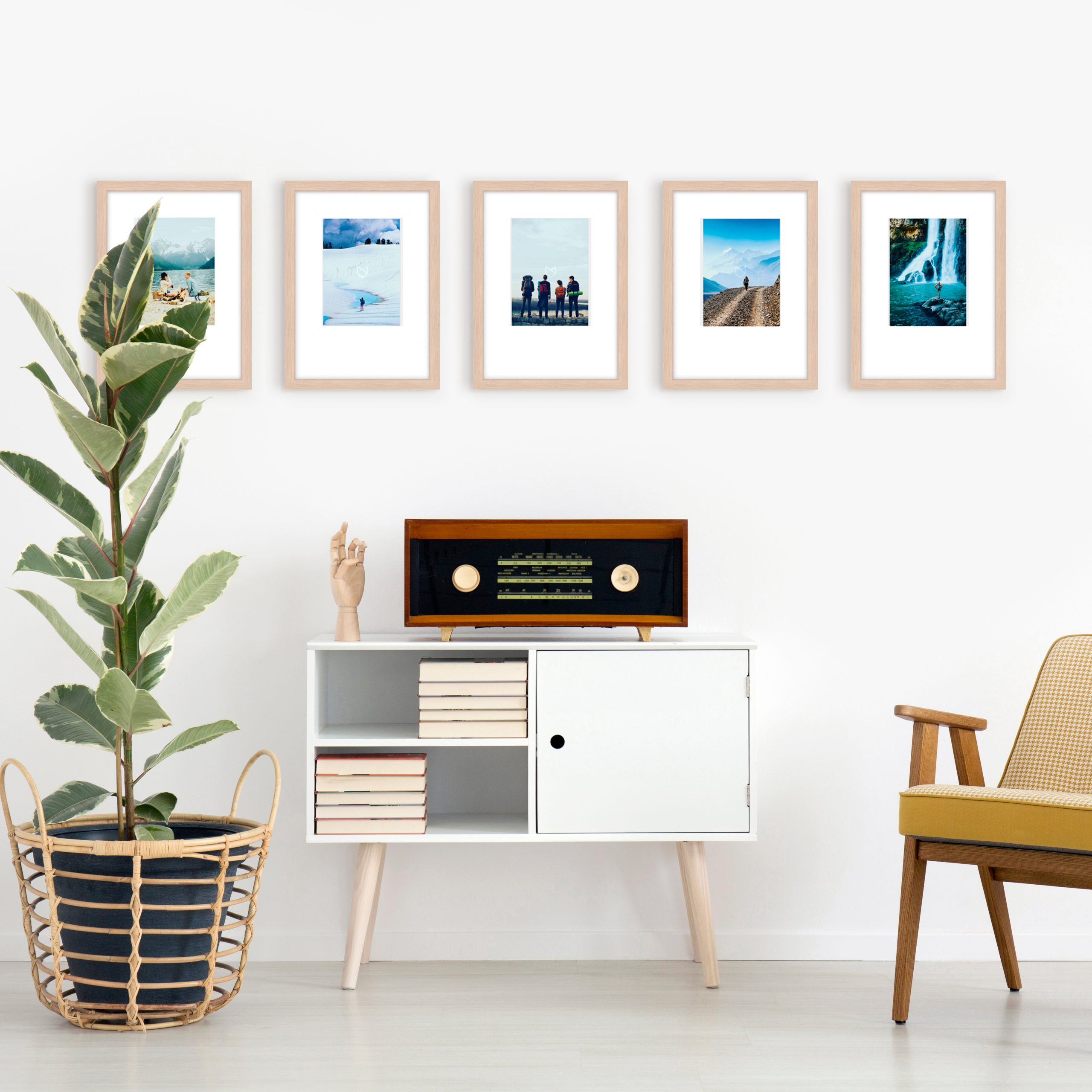 gallery wall layout template photo walls framed art wood frame