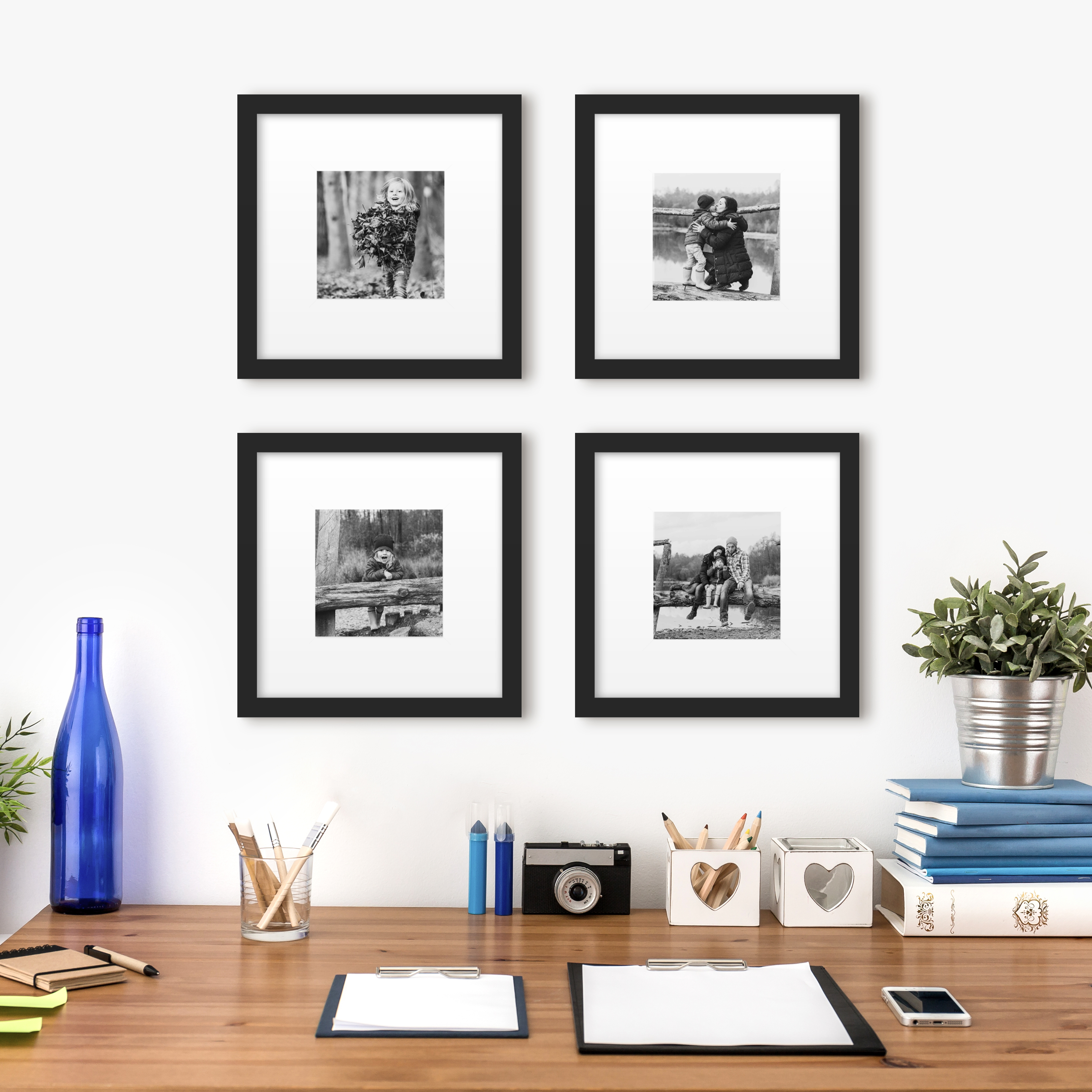 gallery wall layout template photo walls framed art grid black frame
