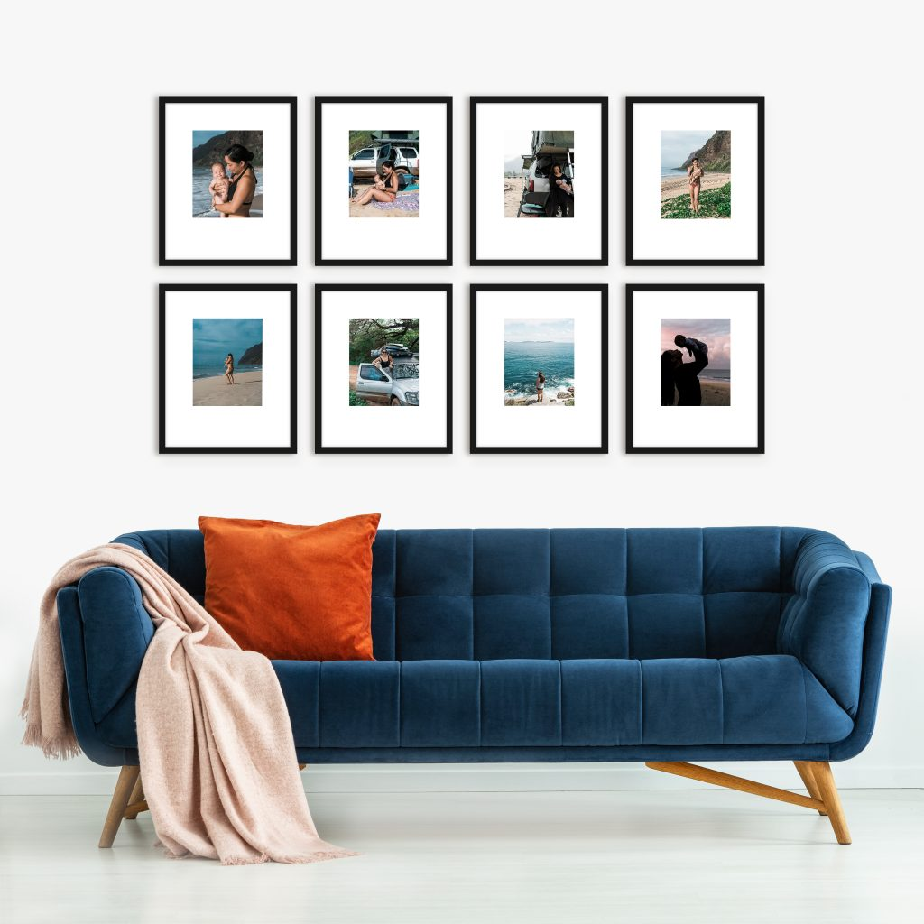 wide grid gallery wall inspiration